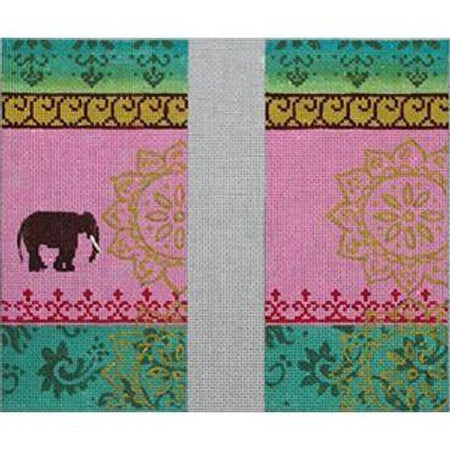 Elephant Eyeglass Case Canvas-Needlepoint Canvas-Colors of Praise-KC Needlepoint