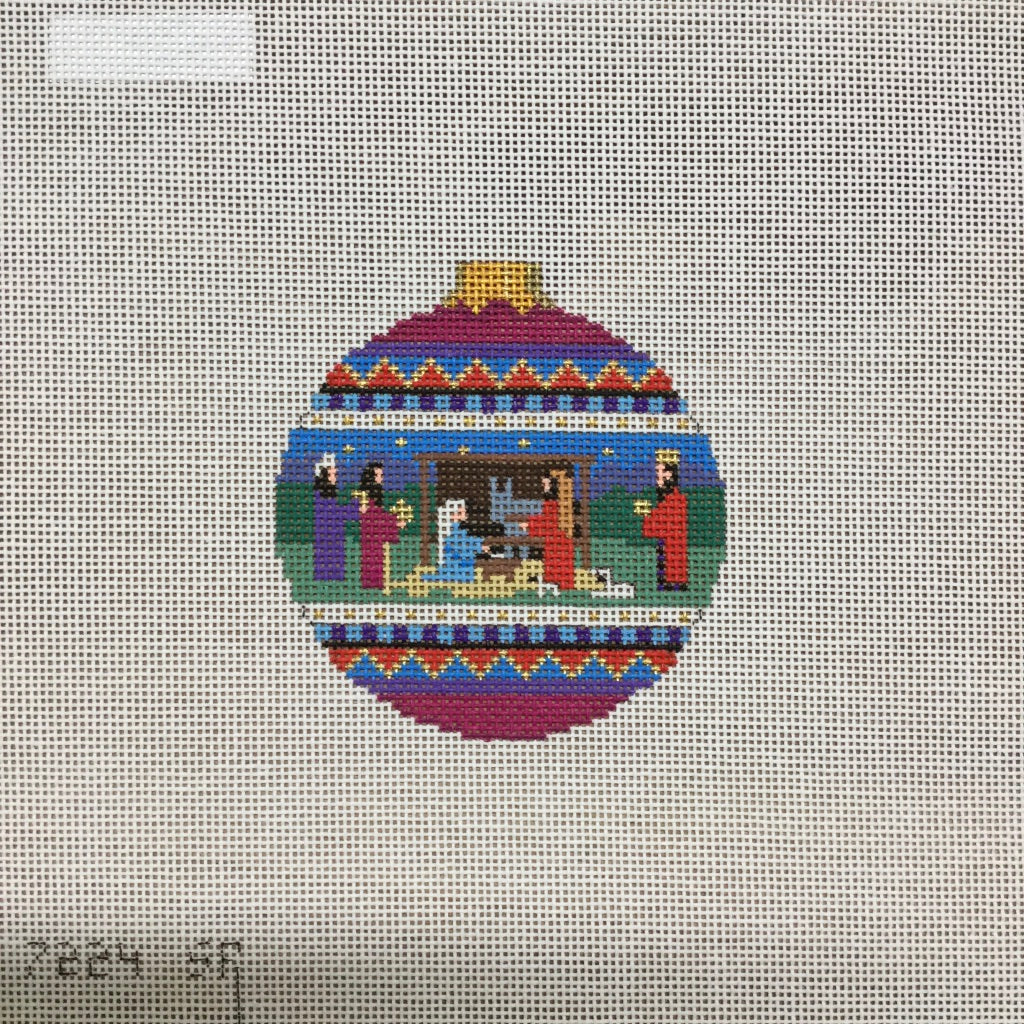 Nativity Round Canvas-Needlepoint Canvas-Susan Roberts-KC Needlepoint