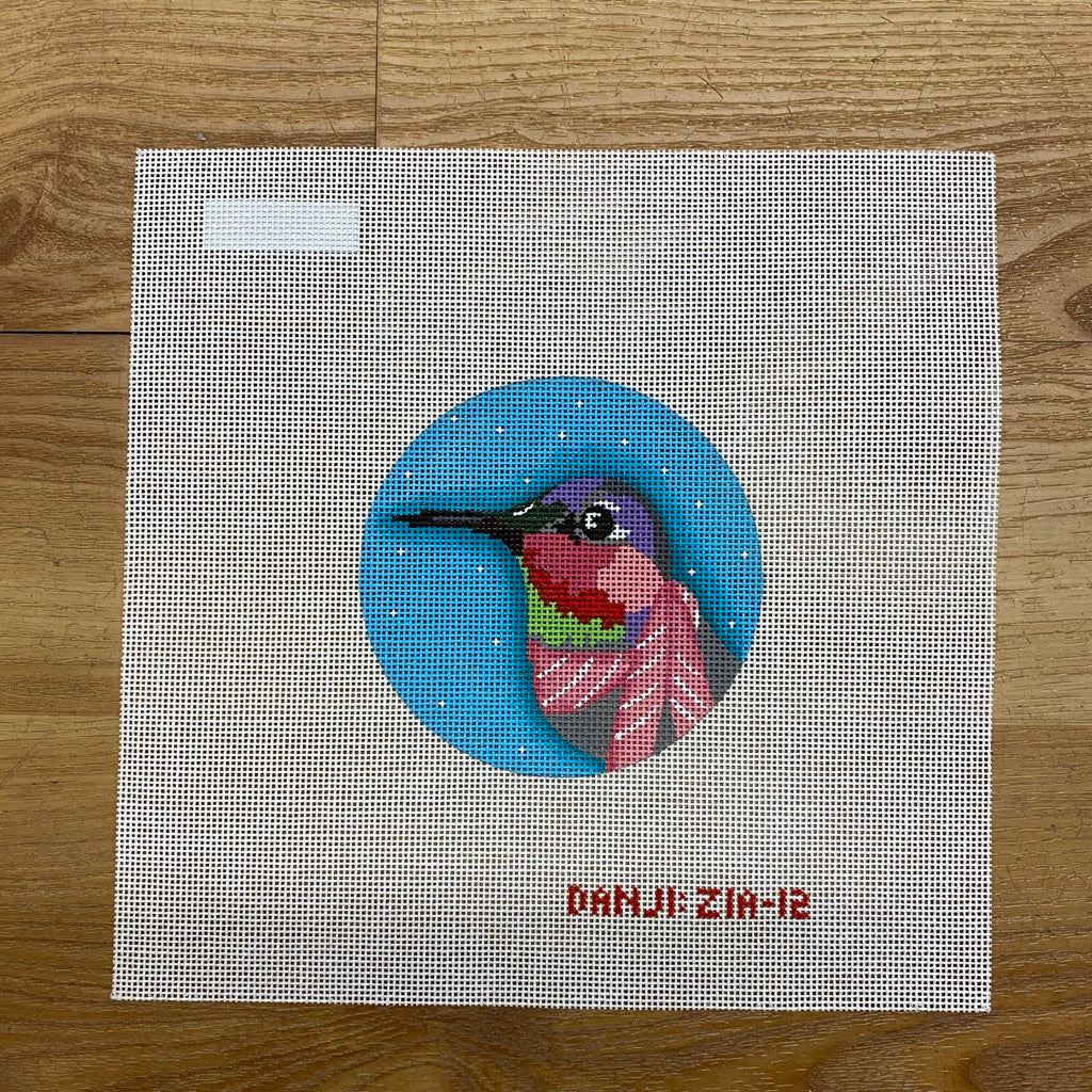 Hummingbird Ornament Canvas - needlepoint