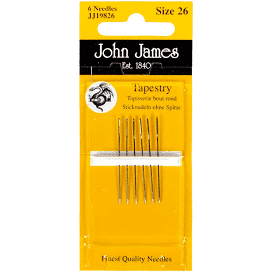 John James #26 Tapestry Needles - needlepoint
