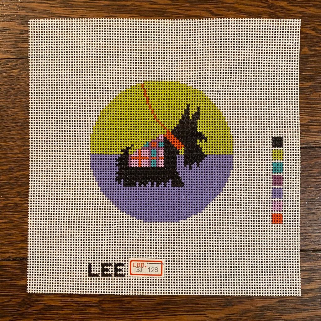 "Scottie 3"" Round Canvas"