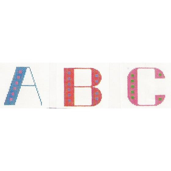 Starter Initials Canvas-Stitch-Its-KC Needlepoint