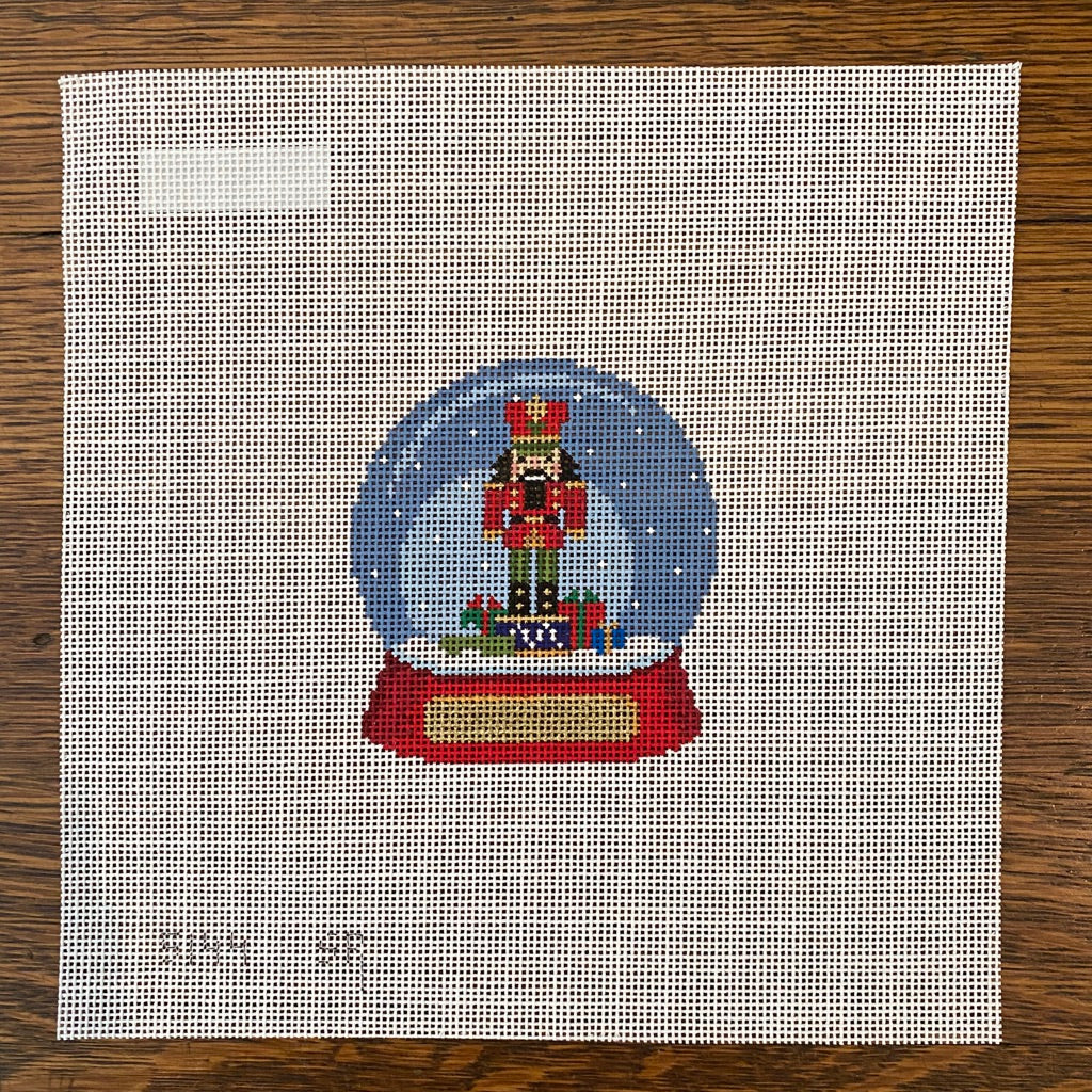 Snow Globe Nutcracker Canvas