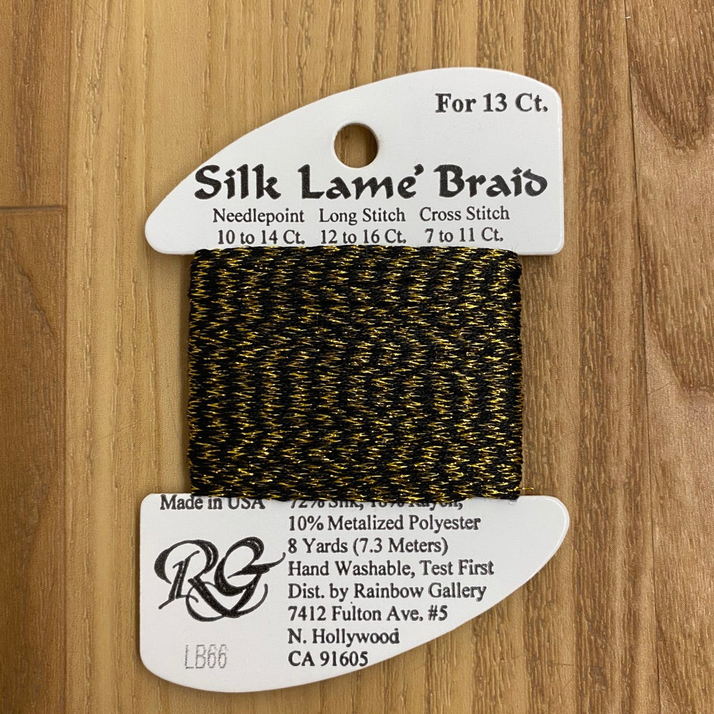 Silk Lamé Braid LB66 Antique Gold - needlepoint