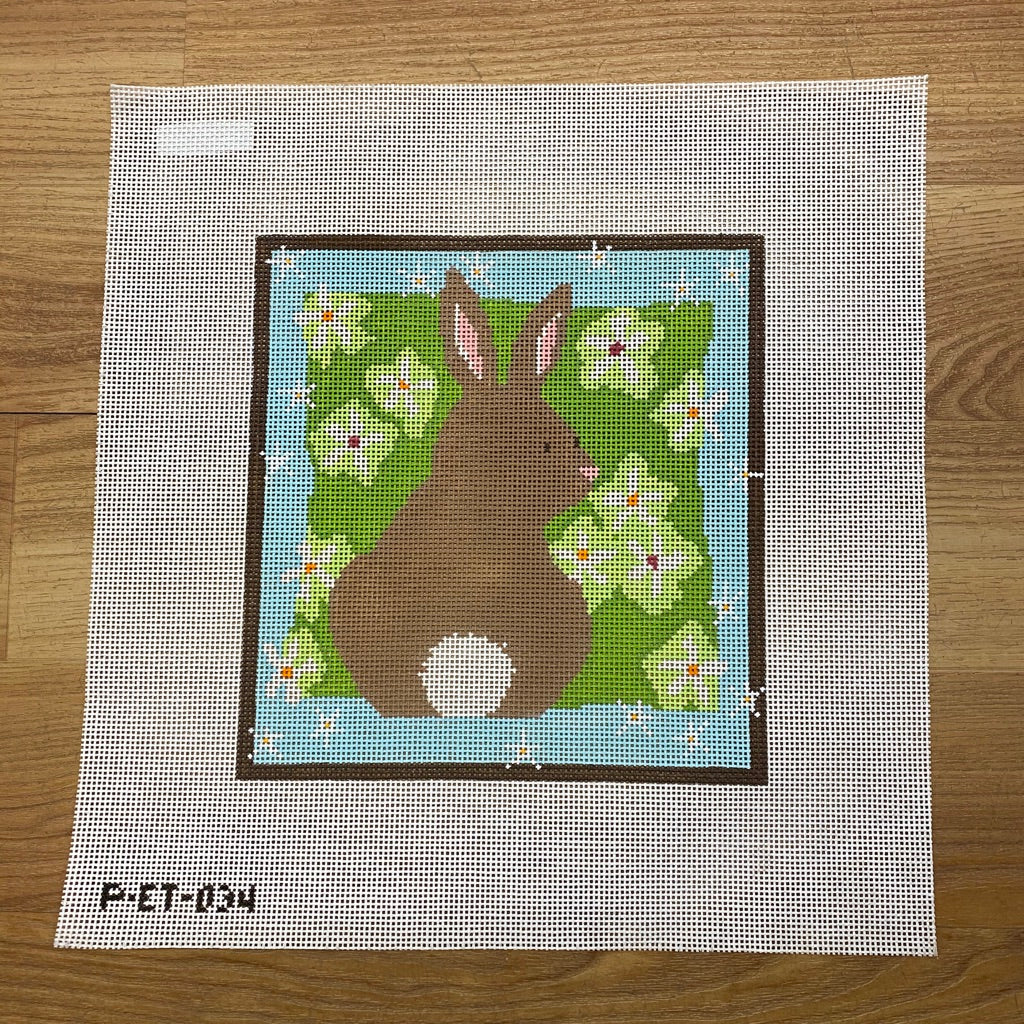 Brown Bunny Canvas - KC Needlepoint