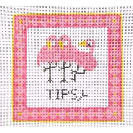 Tipsy Needlepoint Canvas - KC Needlepoint