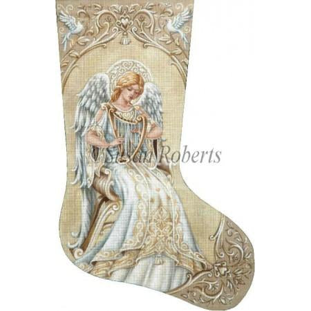 Ivory Angel Stocking Canvas