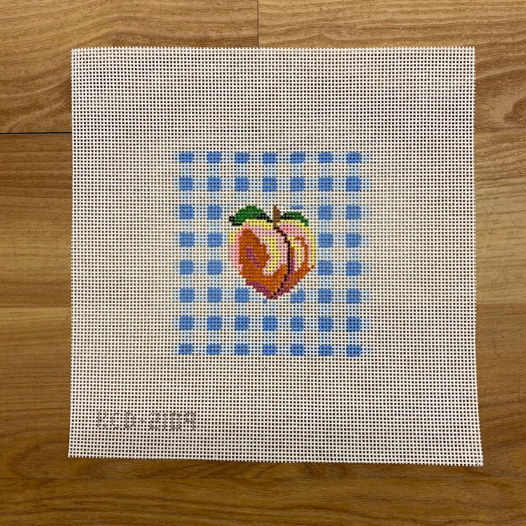 Peach on Gingham Square