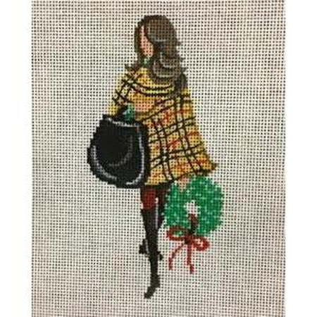 Wreath Shopping Canvas - needlepoint