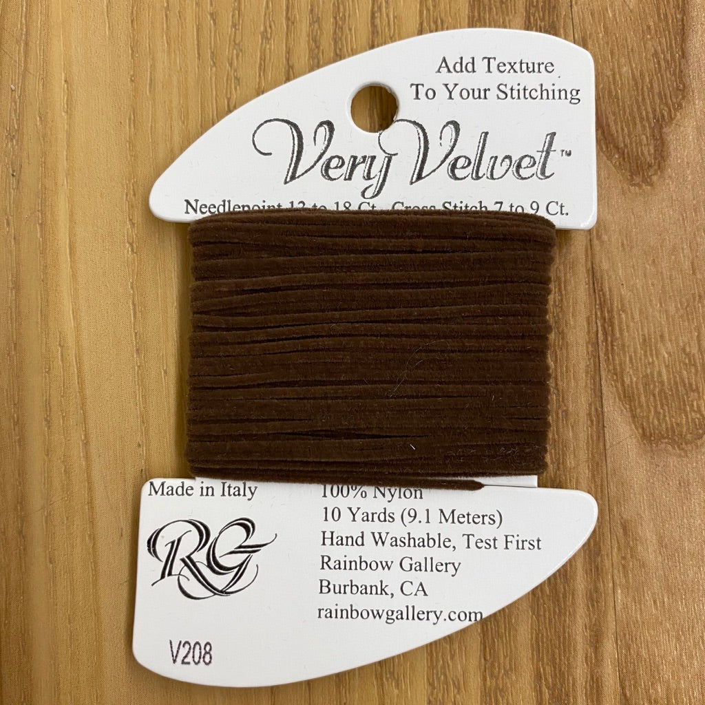 Very Velvet V208 Dark Brown - needlepoint