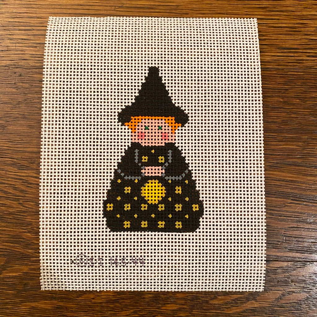 Black Witch Angel Canvas - needlepoint