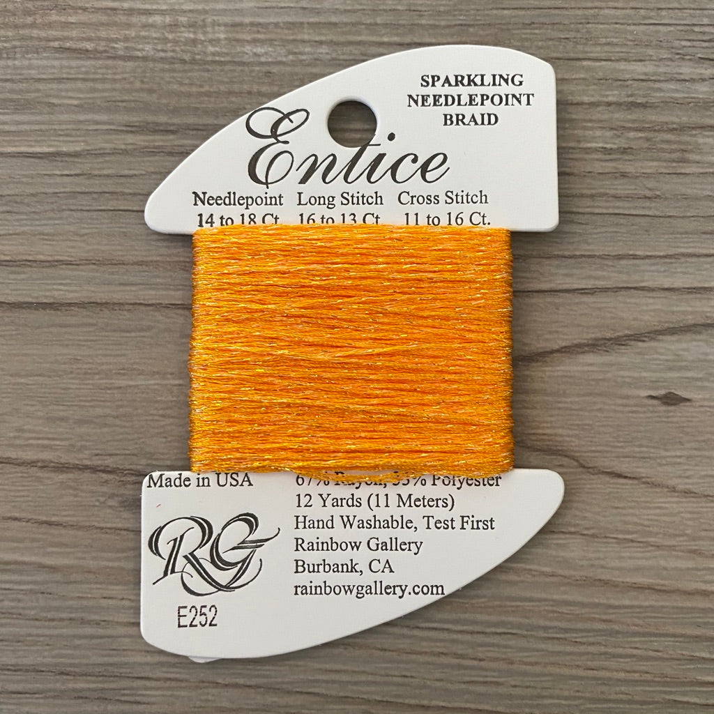 Entice E252 Radiant Yellow - KC Needlepoint