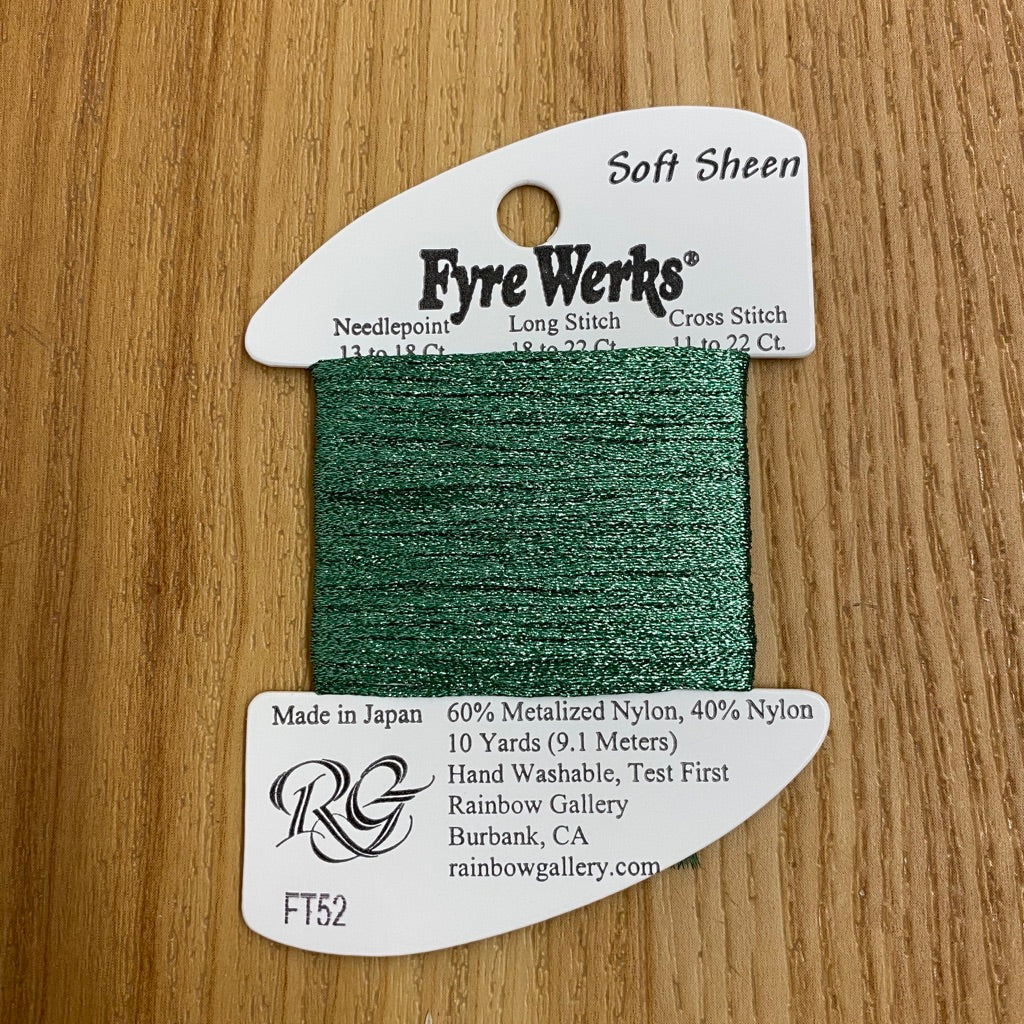Fyre Werks Soft Sheen FT52 Lite Tree Green - needlepoint