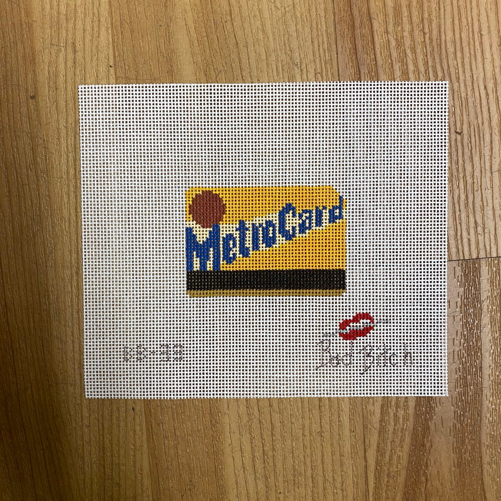 Mini MetroCard Canvas-Needlepoint Canvas-KC Needlepoint