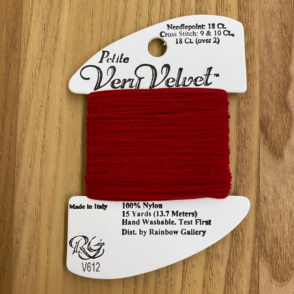 Petite Very Velvet V612 Cherry Red - KC Needlepoint