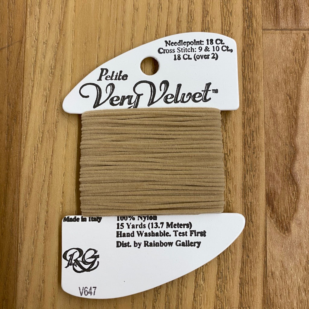 Petite Very Velvet V647 Medium Beige - KC Needlepoint