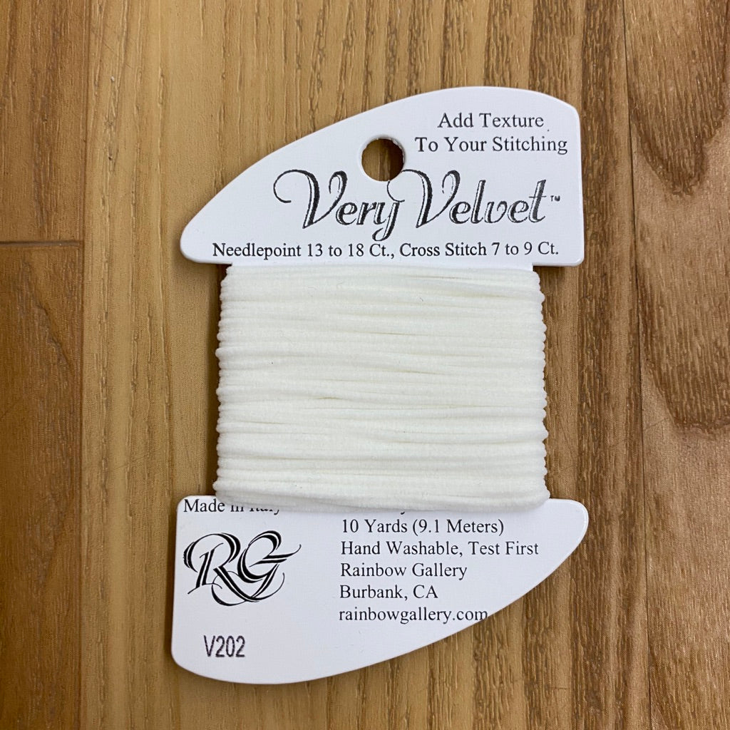 Very Velvet V202 White - KC Needlepoint