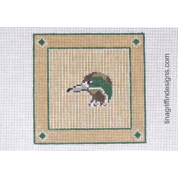Widgeon Duck Square Canvas-Needlepoint Canvas-Tina Griffin Designs-KC Needlepoint