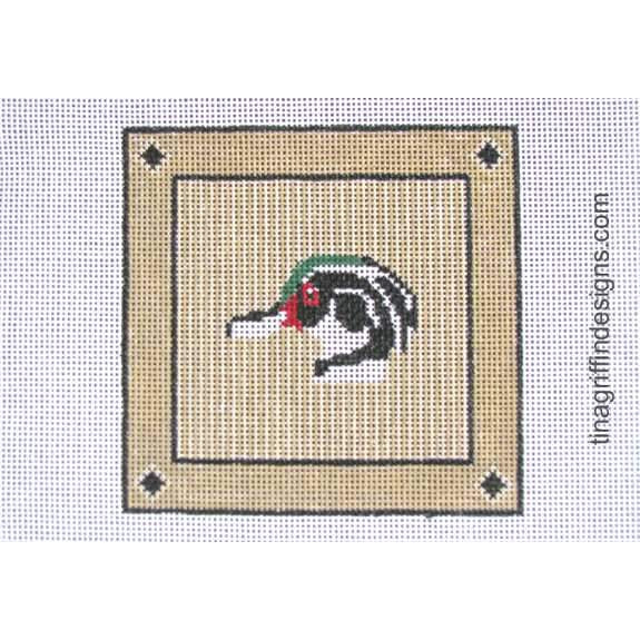 Wood Duck Square Canvas - needlepoint