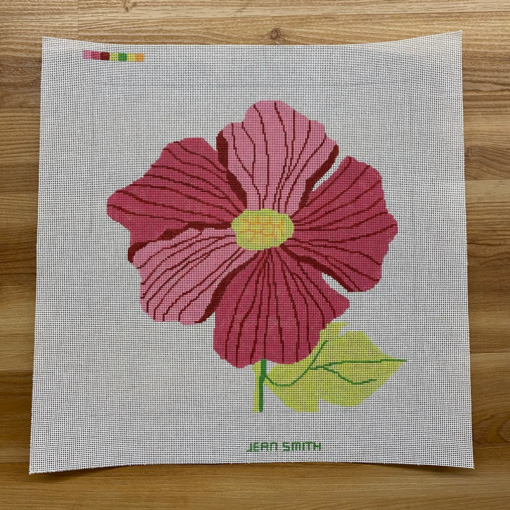 Large Pink Peony Needlepoint Canvas - needlepoint