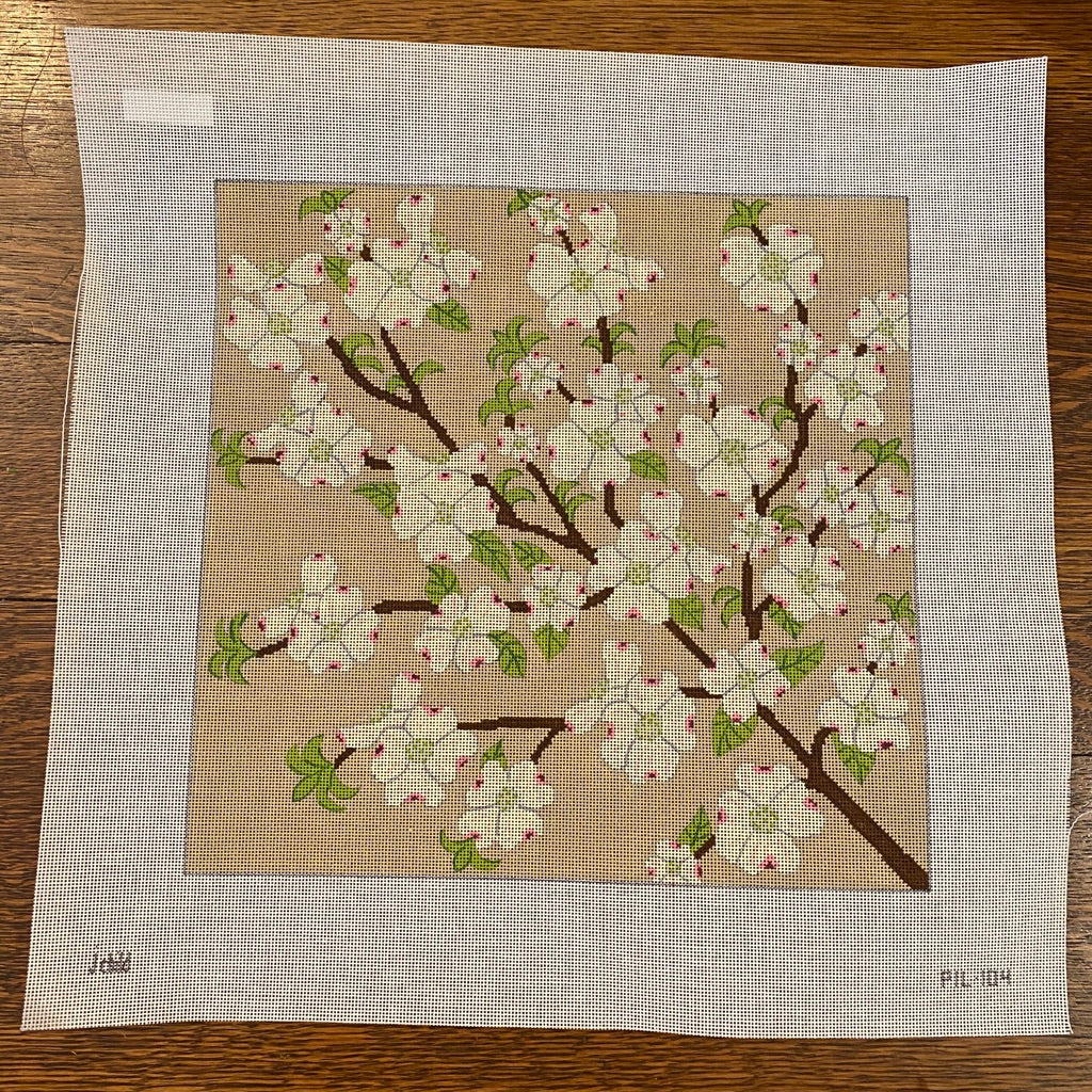 Dogwood Pillow Canvas-Needlepoint Canvas-KC Needlepoint