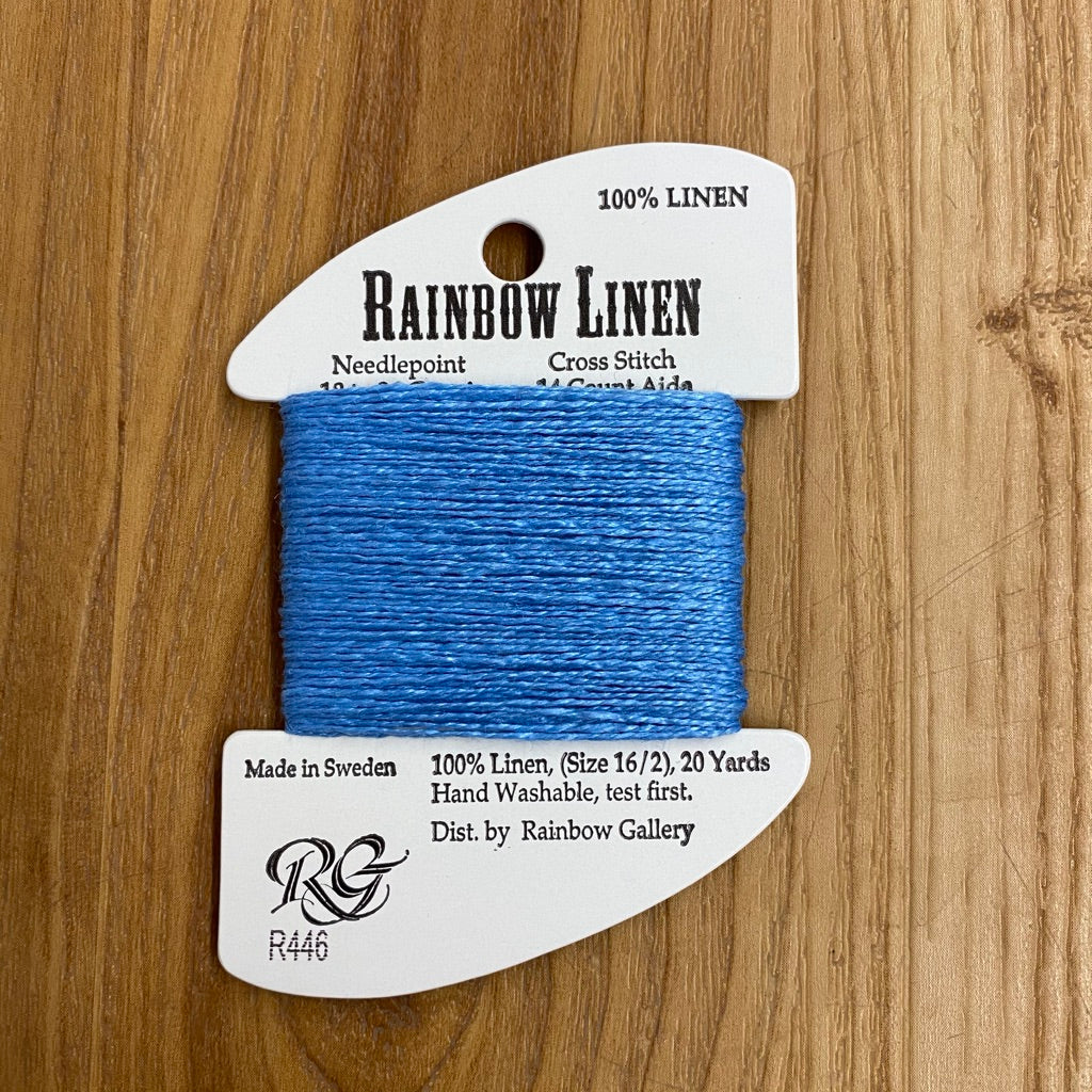 Rainbow Linen R446 French Blue - KC Needlepoint