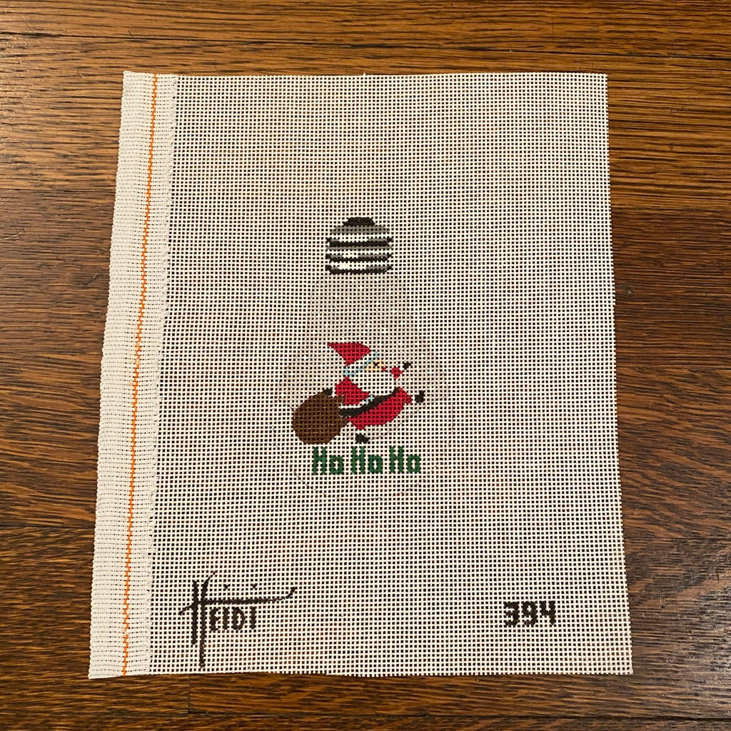 Santa Light Bulb Canvas - needlepoint