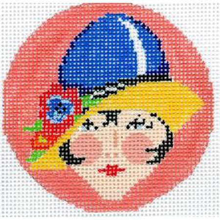 Art Deco Babe Canvas - needlepoint