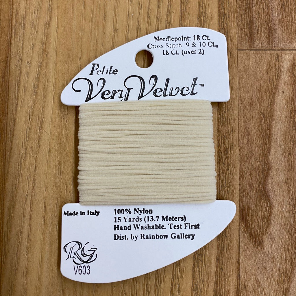 Petite Very Velvet V603 Ecru - KC Needlepoint