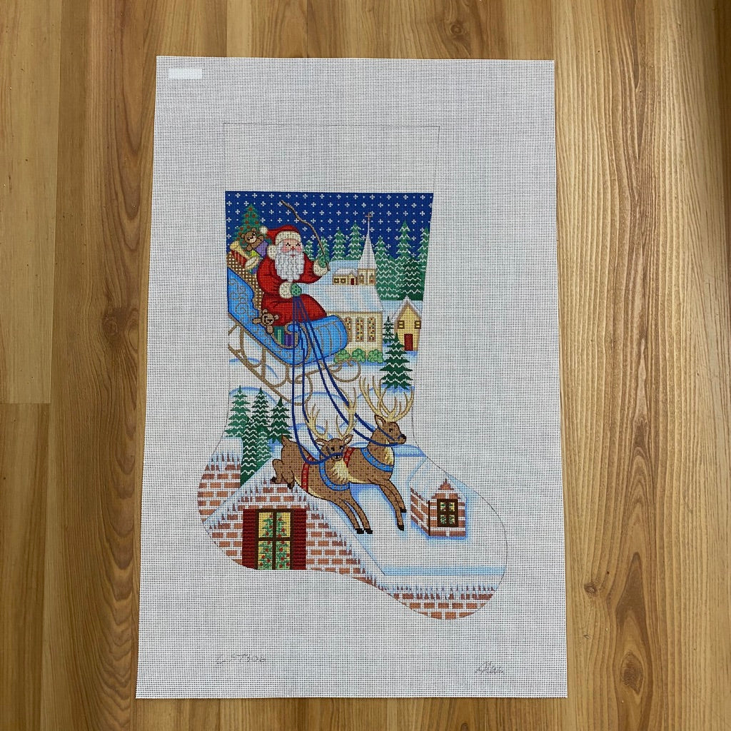 Alexa Christmas Stocking 7306 - needlepoint
