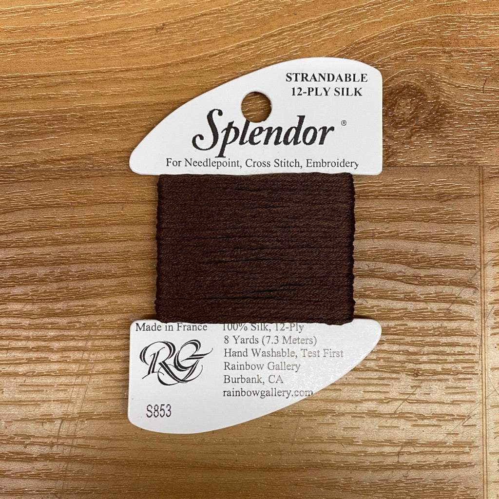 Splendor S853 Dark Brown - KC Needlepoint