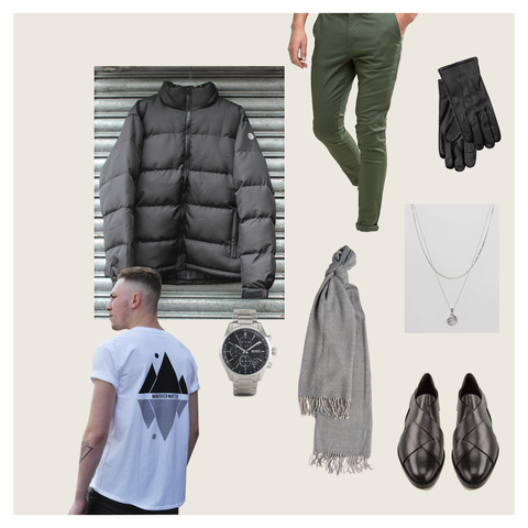 DRESSED UP PUFFER LOOK MENS