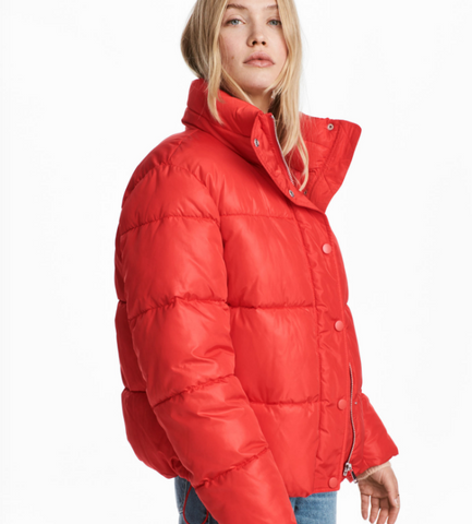 H&M red puffer