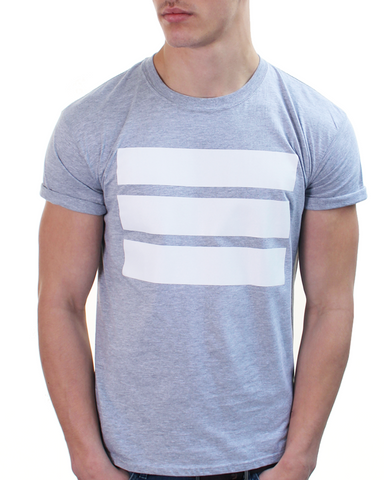 3 Bars White / Grey Tee