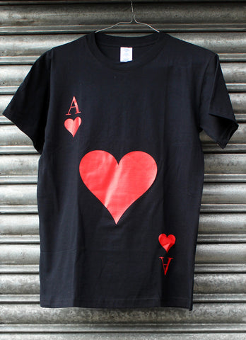 Ace of Hearts black tee SALE
