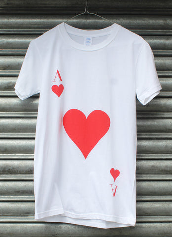 Ace of Hearts white tee SALE