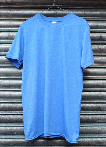 Heather blue plain tee