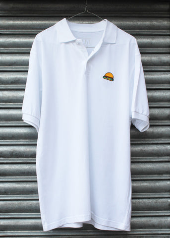 Burger Embroidery Piqué Polo Shirt NEW