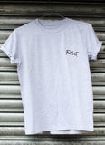 Fu*k it embroidered rose grey tee