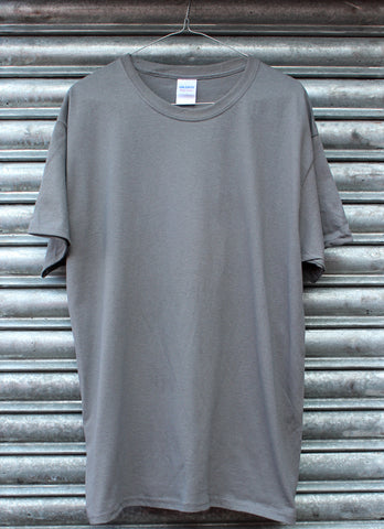 Dark grey plain tee