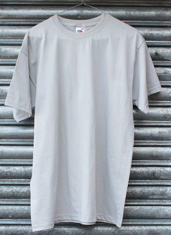 Light grey plain tee