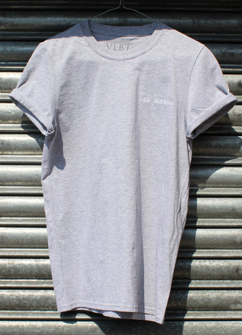 Old School Embroidered grey Tee NEW
