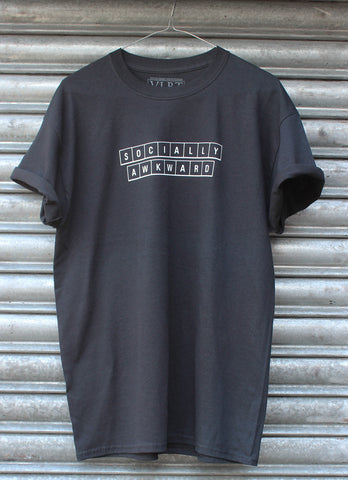 Socially Awkward black Tee NEW