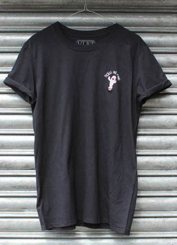 Tickle me pink black tee X NATCHO  NEW