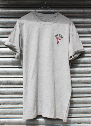 Tickle me pink grey tee X NATCHO  NEW