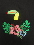 Toucan Embroidered tee VLBT NEW Mens
