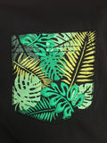 Tropical Embroidered Mock Pocket Longline tee VLBT NEW Mens