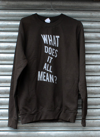What Does it All Mean? Sweatshirt SALE