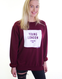 Young London Sweater -  Signature Logo - Maroon