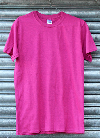 Heather pink plain tee